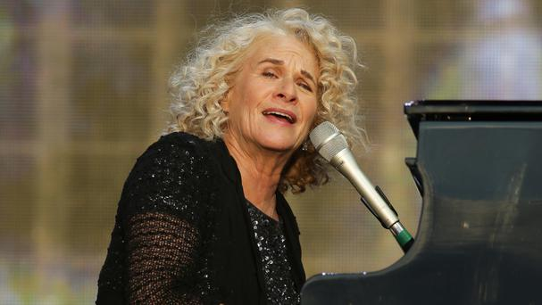 Carole King performing at the British Summer Time festival at Hyde Park in London