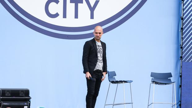 New Manchester City manager Pep Guardiola has been interviewed by superfan Noel Gallagher