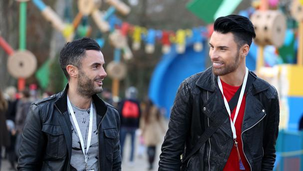 Rylan Clark and husband Dan Neal presented the show