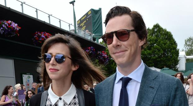 Benedict Cumberbatch and wife Sophie Hunter were in the Centre Court crowd to see Andy Murray crowned Wimbledon champion