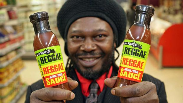Levi Roots successfully pitched his Reggae Reggae Sauce to the Dragons