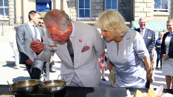 The Prince of Wales and the Duchess of Cornwall on their tour of the South West