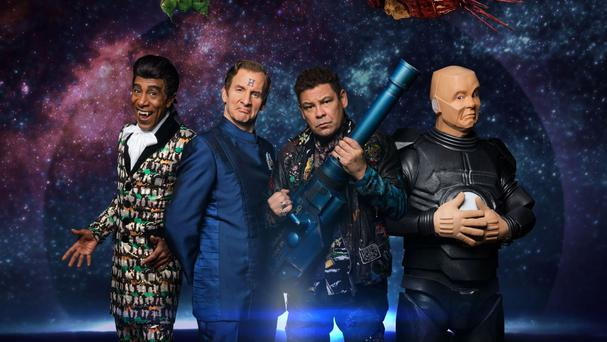 The original cast of Red Dwarf have reunited for the 11th series of the popular sci-fi comedy (Dave/UKTV/PA)
