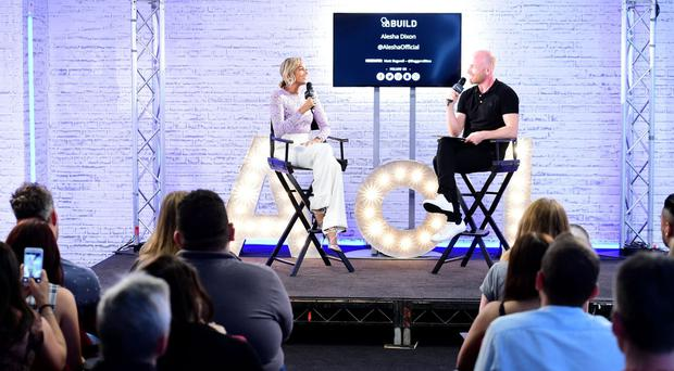 Alesha Dixon is interviewed by Matt Bagwell for the AOL UK Build event at the AOL UK offices in London