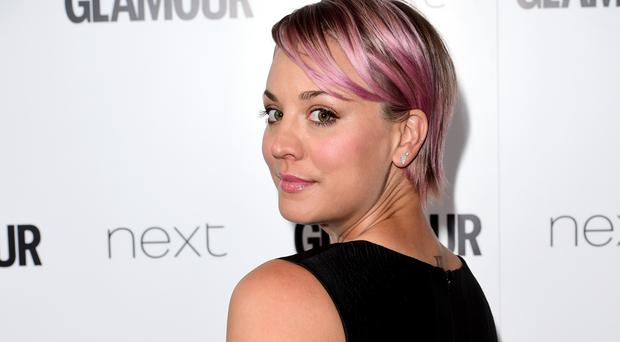 Kaley Cuoco, pictured, and Katey Sagal are to reunite on The Big Bang Theory