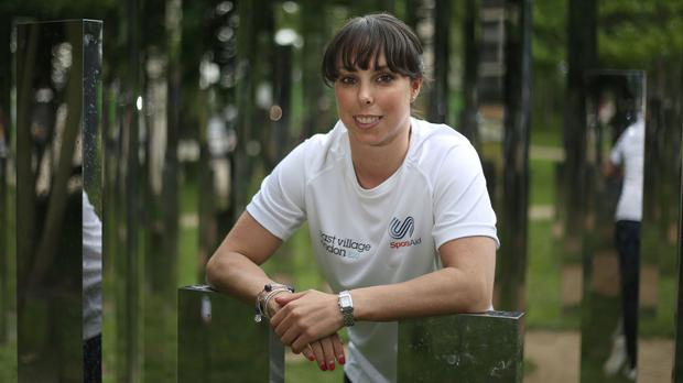 Beth Tweddle at the Ultimate Sports day hosted at the East Village in Stratford, London