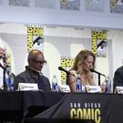William Shatner, left, and the Star Trek panel at Comic-Con International in San Diego (AP)