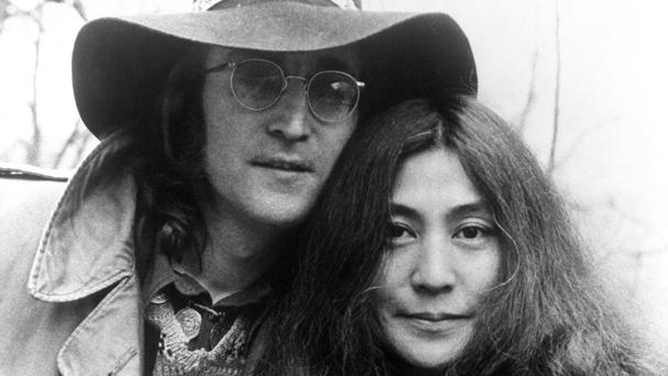 John Lennon and Yoko Ono pictured in 1973, the year after his 1956 Austin Princess featured in the Imagine promotional film