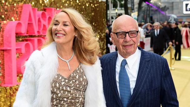 Rupert Murdoch and Jerry Hall wed in March this year