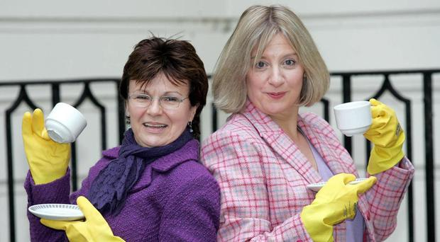 Victoria Woods (right) with Julie Walters