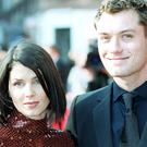 Sadie Frost and Jude Law at the Baftas in 2003