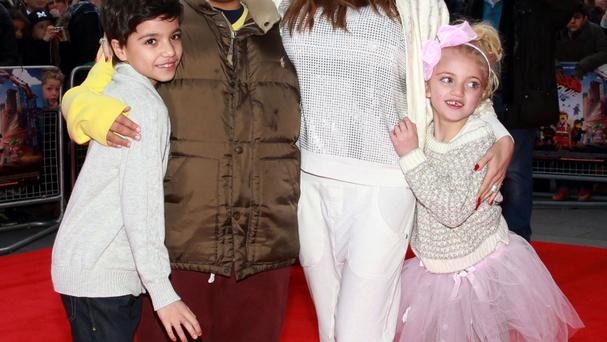 Katie Price with her children including Harvey (centre left)