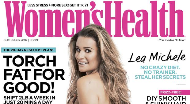 Singer and TV star Lea Michele features on the cover of the 'Naked Issue' edition of Women's Health