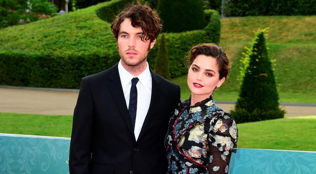 Tom Hughes and Jenna Coleman attending the world premiere screening of ITV's Victoria at Kensington Palace, London last night