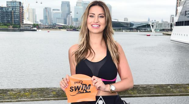 Great Swim ambassador Ferne McCann took part in the Manchester leg in July