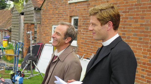 James Norton (right) and Robson Green