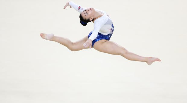 Claudia Fragapane, pictured during the women's team gymnastics final in Rio, is leaping into the Strictly Come Dancing line-up