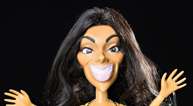 The puppet of X Factor judge Nicole Scherzinger