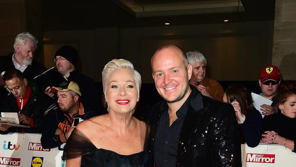 Denise Welch and Lincoln Towney on the red carpet
