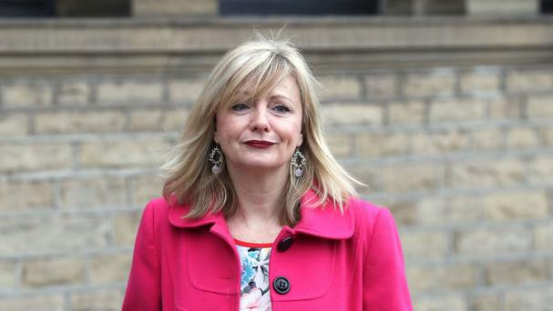 Actress Tracy Brabin at the funeral of Labour MP Jo Cox in Batley, West Yorkshire
