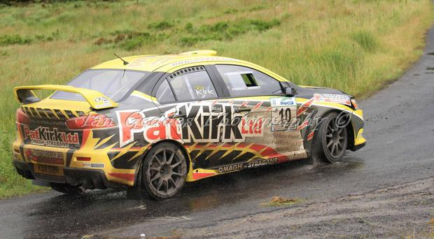 Accident: Pat Kirk's rally car