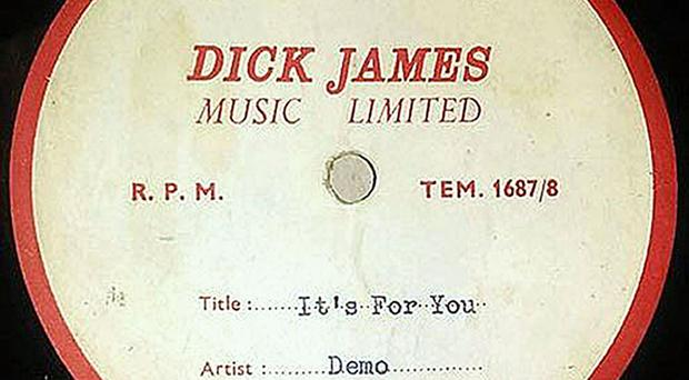 It's For You was written for Cilla Black by John Lennon and Sir Paul McCartney (The Beatles Shop/PA Wire)