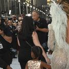 Beyonce, right, and her daughter Blue Ivy arrive at the MTV Video Music Awards at Madison Square Garden (Invision/AP)