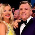 Laura Whitmore and Ed Balls at the launch of Strictly Come Dancing 2016