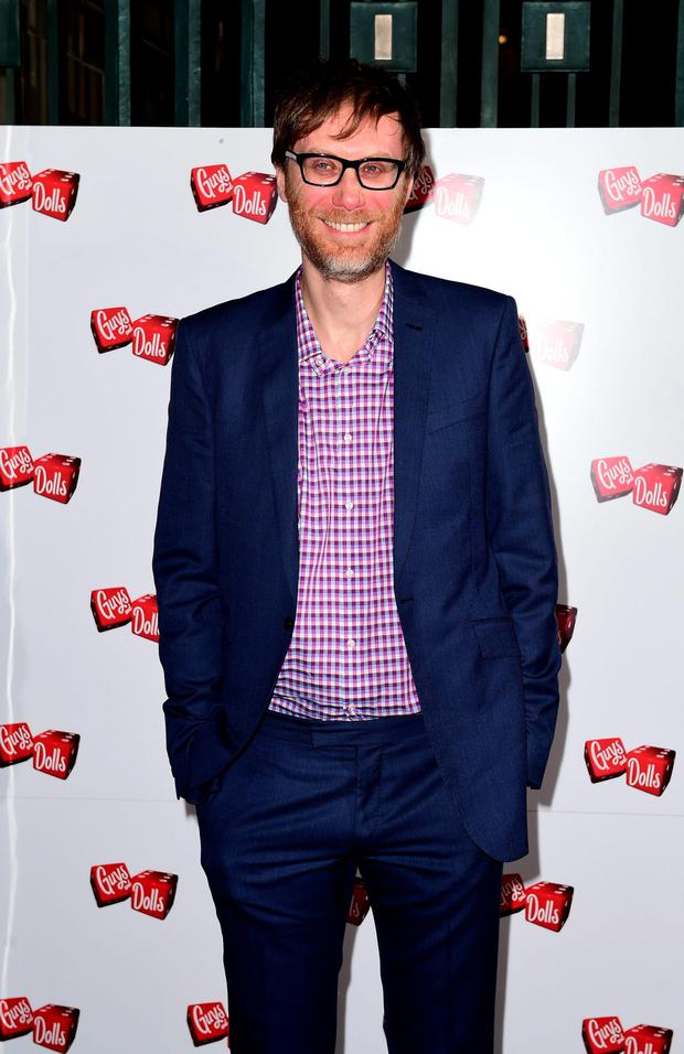 Delighted: Stephen Merchant