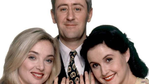 Goodnight Sweetheart stars (left to right) Emma Amos, Nicholas Lyndhurst and Elizabeth Carling