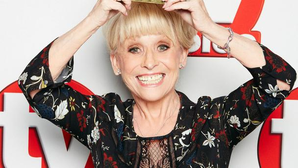 Dame Barbara Windsor with her Outstanding Contribution to Television Award (TV Choice Awards/PA)