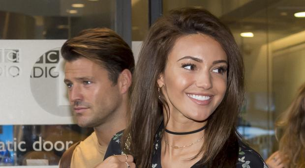 Michelle Keegan leaves Broadcasting House in London with husband Mark Wright