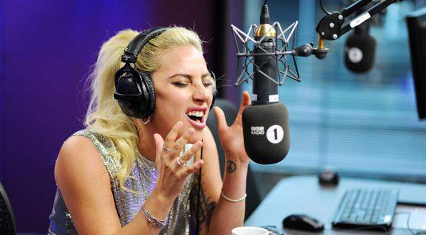 Lady Gaga co-hosted the Radio 1 Breakfast Show with Nick Grimshaw.
