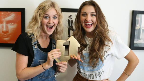 Twin sisters Catherine and Lizzy Ward Thomas have gone straight in at the top with their second studio album