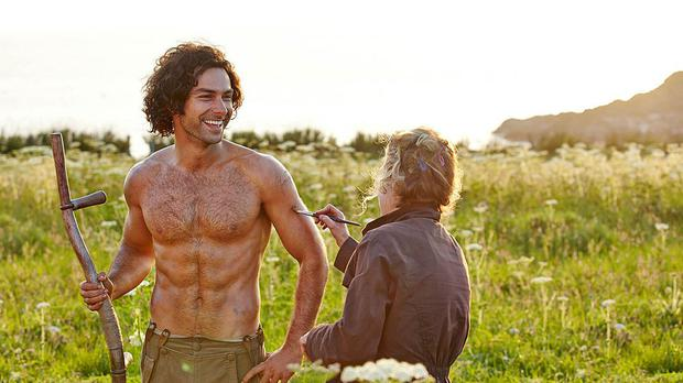 Poldark star Aidan Turner is prepared for the famous scything scene that made viewers swoon (BBC/PA)