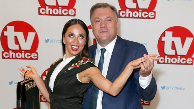 Ed Balls is in training for the live Strictly shows with Katya Jones