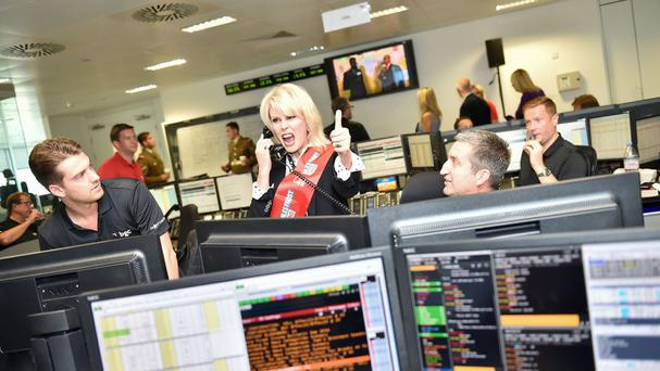 Joanna Lumley represents British Heart Foundation as she takes part in the BGC charity day