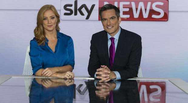 The new co-hosts for Sky News' Sunrise, Sarah-Jane Mee and Jonathan Samuels (Sky/PA)