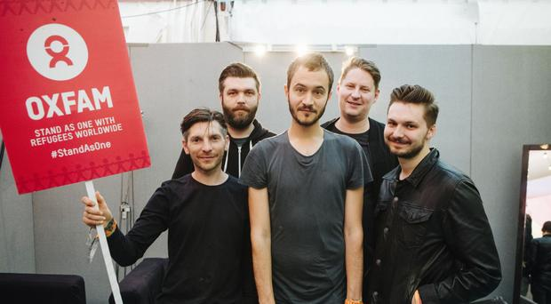 Editors contributed a live song to Oxfam's Glastonbury CD