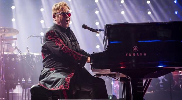 Sir Elton John performs on the opening night of the Apple Music Festival at the Roundhouse