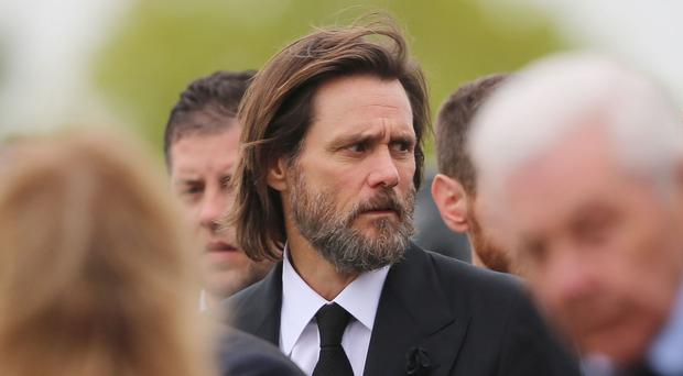 Jim Carrey at the funeral of ex-girlfriend Cathriona White in Cappawhite, Co Tipperary