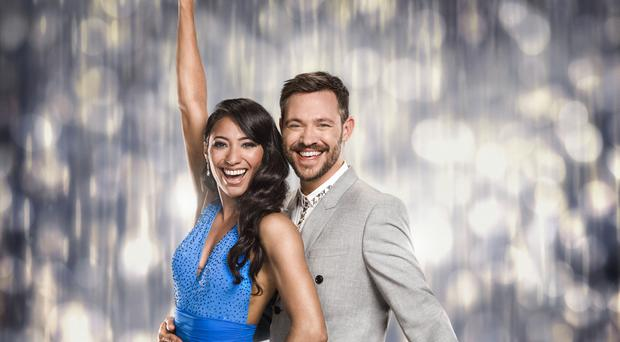 Will Young and his professional dance partner Karen Clifton are performing their first routine as a couple to David Bowie's Let's Dance (BBC/PA)