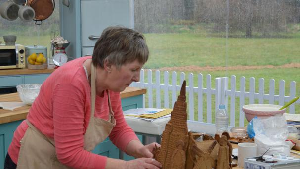 Val Stones tackling gingerbread in an earlier episode