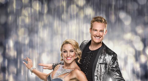 Greg Rutherford with his dance partner Natalie Lowe (BBC/PA)