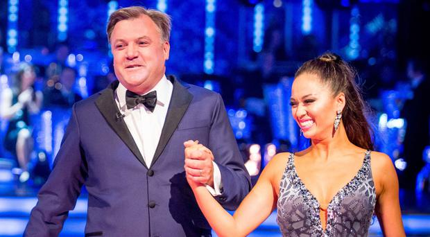 Ed Balls and partner Katya Jones on the new series of Strictly Come Dancing (BBC)