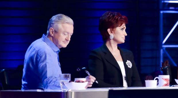 X Factor judges Louis Walsh and Sharon Osbourne narrow down their acts in the Six Chair Challenge