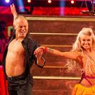 Judge Robert Rinder and Oskana Platero performing on Strictly Come Dancing