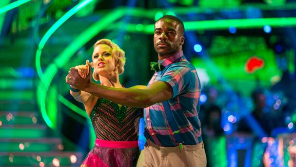 Joanne Clifton and Ore Oduba during a dress rehearsal