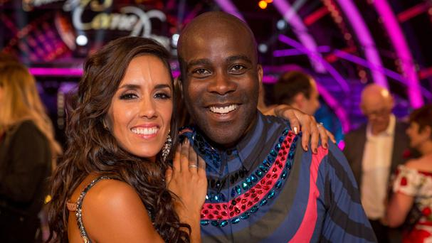 Melvin Odoom with Strictly partner Janette Manrara