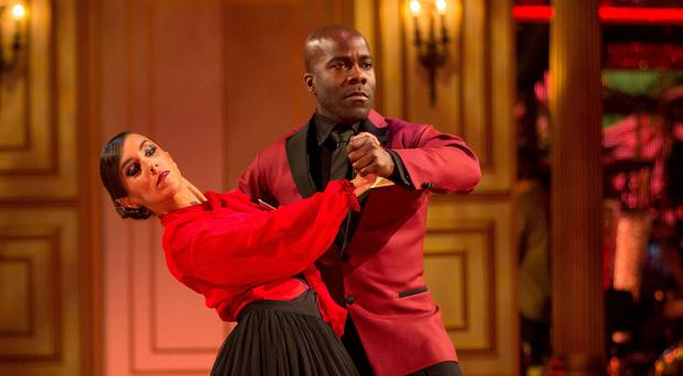 Melvin Odoom with his Strictly Come Dancing partner Janette Manrara (BBC)